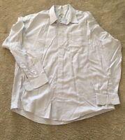 Pronto Uomo Mens Non Iron Gray Button Up Dress Shirt Long Sleeve Sz 17 1/2 36/37