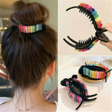 Rainbow Sequins Claw Clip Plastic Hair Claw Large Size Hair Clamps Hair Barrette