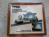 Tyco Operating Floodlight Car Burlington Northern HO Scale No. 346. IOB.
