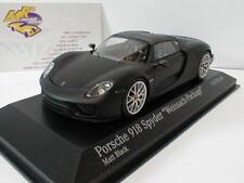 """Minichamps 410062136 - Porsche 918 Spyder """" Weissach-Package """" matt schwarz 1:43"""