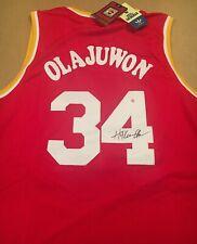 Hakeem Olajuwon Houston Rockets Autographed Signed Hardwood Classics Jersey COA
