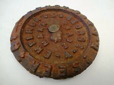 George V Emperor 2 Seer Antique Cast Iron Scale Weight British India Scale Unit*