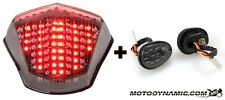 09-17 Yamaha FZ6R SEQUENTIAL LED Tail Light Clear + Flush Mount Signal COMBO