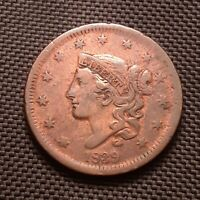 1839 Coronet Head Large Cent, Head Of 1838 - Very Fine VF