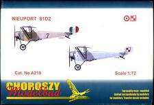 Choroszy Models 1/72 NIEUPORT 81D2 Fighter French & Polish Versions