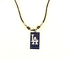LOS ANGELES DODGERS MLB Diamond Plate Style Necklace - FREE U.S. Shipping !