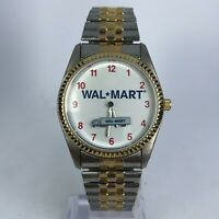 Vintage Nelsonic Wal-Mart Mens NR970 Semi Truck Doable Tone Analog Wristwatch