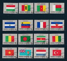 NATION UNIES  New York 1ère série des Drapeaux de 1980  oblitéré   bd