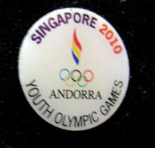 Singapore 2010 rare ANDORRA YOG Olympic NOC team DELEGATION  pin