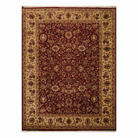 9' x 12'2'' Hand Knotted 100% Wool Agra Traditional Oriental Area Rug Burgundy