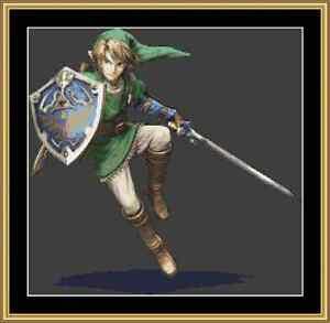 Zelda Link Cross Stitch Kit