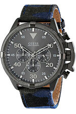 GUESS W0480G3,Men's Chronograph,Stainless Case,leather,Screw Crown,100m WR