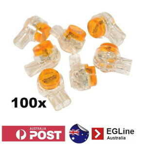 100 UY2 Twin Blade 2 Wire Scotchlok Scotch Lock Gel Fill Splice Crimp Connector