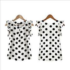 Women's Casual Chiffon Blouse Short Sleeve Shirt T-shirt Summer Tops Size XXL