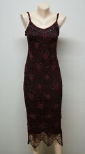 KAREN MILLEN  Beaded Crochet Bodycon Long Dress size 1