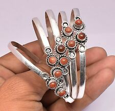 Goldstone Gemstone Cuff Bracelet 925 Sterling Silver Plated Jewelry