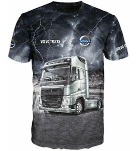 T-Shirt VOLVO Truck Herren Shirt kurzarm Crew-Neck LKW Driver S,M,L,XL,XXL,XXXL