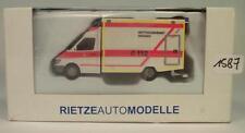 Rietze 1/87 Mercedes Benz Sprinter RTW Rettungsdienst Bremen OVP #1587
