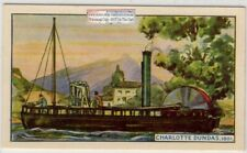 "1801 ""Charlotte Dundas"" First Paddle Wheel Watt Engine Steamboat 75+ Y/O Ad Card"