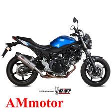 Mivv Suzuki Sv 650 2017 17 Pot D' Echappement Moto Oval Titanium Carbon Cap