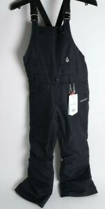 2021 NWT YOUTH VOLCOM ALLOVER BIB OVERALL SNOWBOARD PANTS $170 M Black 2 layer