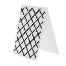 1pc Lattice Plastic Embossing Folder For Scrapbook Photo Album Card Paper E0Xc