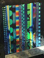 Dichroic Glass 90 COE Sizzle Stix/ Fire Stix 6mm X 10cm (4 Pieces)