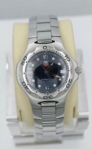Tag Heuer Blue Kirium Watch Mens WL1113.BA0701 Professional Mint Crystal Silver