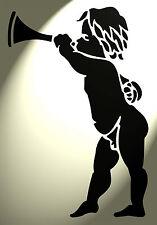 Shabby Chic in plastica Stencil Vintage Love Cherub designa 297x210mm Fiorire Fogli