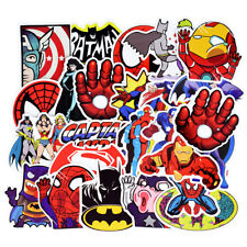 50pcs Cool DC MARVEL Car Sticker Graffiti Bomb Skateboard Luggage Decal For Kids