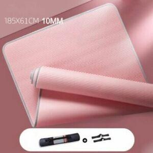Yoga Mat Non-slip 10MM 15MM 183cmX61cm Gym Exercise Pads Fitness Carpet NEW