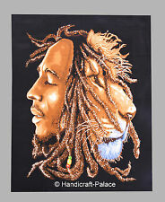 """Bob Marley One Love Tapestry Wall Hanging Poster Handmade Cotton Decor 40"""" X 30"""""""