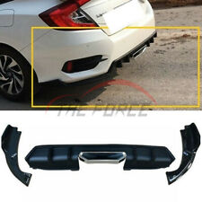 Matte Black Rear Bumper Lip Spoiler Body Kit Fit For Honda CIVIC 10th 2016-2019