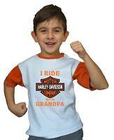 Harley Davidson Kids Tee Shirt Biker Motor Cycle Youth Children Ride With Vest