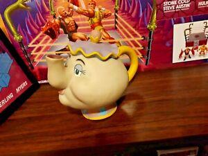 Walt Disney Mrs Potts Coin Piggy Bank Beauty & The Beast Vinyl Teapot Bank