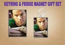 Mark Wahlberg Key Ring & Fridge Magnet Set