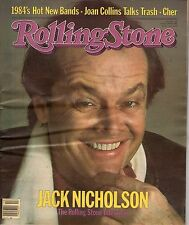 1984 Rolling Stone March 29-Jack Nicholson; Cher; Billy Idol; Joan Collins;