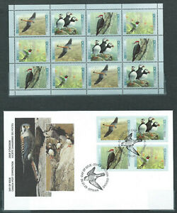 Canada # 1594ii field stock pane (1591-1594)  MNH + FDC - Birds of Canada - 1