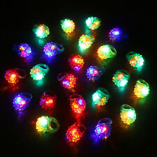 Novelty Place Party Stars Flashing LED Bumpy Jelly Ring Light-Up Toys