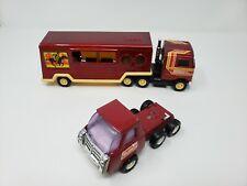 Vintage Buddy L Metal Semi Mack Truck Horse Trailer - 10 1/2 inches long