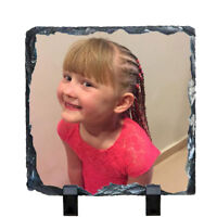 Personalised Photo Rock Slate 15 x 20cm Slate Personalised Mothers Day Gift