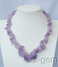 N1507566  Natural Amethyst Rough Necklace