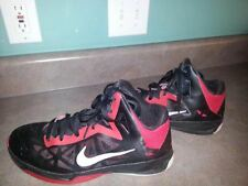 Men's Nike Zoom Hyperchaos 536841-001/Athletic/Basketball/Red/Black Size US 11
