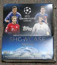 2015-16 Topps UEFA Champions League Showcase Factory Sealed Hobby Box