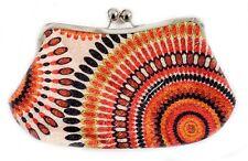 *New*  Vintage Multi Color Floral Print Design Cross Body Handbag Purse / Orange
