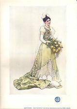 1903 studio print ~ lady pierre par dora holme
