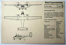 DDR Kleine Typensammlung Luftfahrzeuge - Anatonow An-14 A
