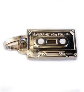Guardians of the Galaxy DJ Awesome Mix Cassette Tape Marvel Metal Pendant Charm