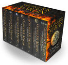 NEW Game of Thrones Song of Ice & Fire 7 Books Collection & Poster Map Gift Set!