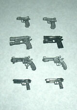 "Eight 1/18 Scale Miniature Plastic Hand Guns for 3.75"" Action Figure Toy (8)"